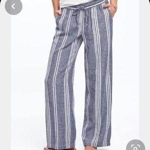 Wide Leg Linen Blend Pants